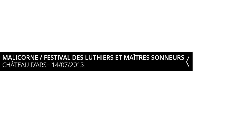 Malicorne Festival des Luthiers et Maitres Sonneur Chateau d'Ars
